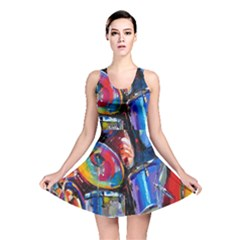 Abstract Paintings Wallpapers Reversible Skater Dress