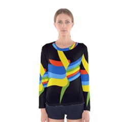 Abstraction Banana Women s Long Sleeve Tee