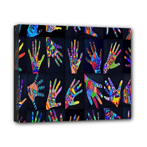 Art With Your Hand Canvas 10  X 8  by AnjaniArt
