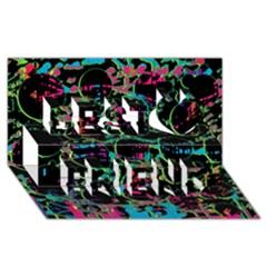 Graffiti Style Design Best Friends 3d Greeting Card (8x4)