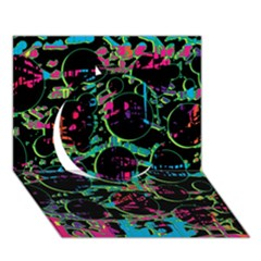 Graffiti Style Design Circle 3d Greeting Card (7x5) by Valentinaart