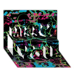 Graffiti Style Design Miss You 3d Greeting Card (7x5) by Valentinaart