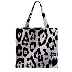 Cheetah Zipper Grocery Tote Bag