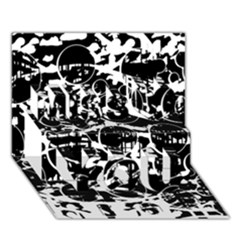 Black And White Confusion Miss You 3d Greeting Card (7x5)