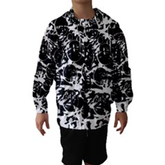 Black And White Confusion Hooded Wind Breaker (kids) by Valentinaart
