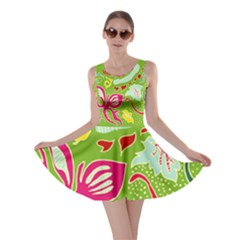 Green Organic Abstract Skater Dress by DanaeStudio