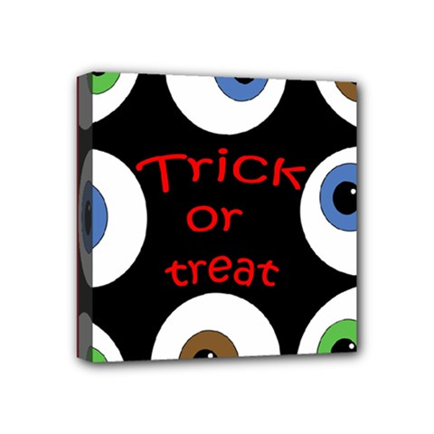 Trick Or Treat  Mini Canvas 4  X 4  by Valentinaart
