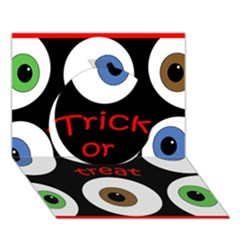 Trick Or Treat  Circle 3d Greeting Card (7x5) by Valentinaart