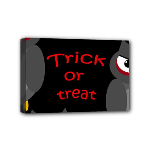 Trick Or Treat   Owls Mini Canvas 6  X 4  by Valentinaart