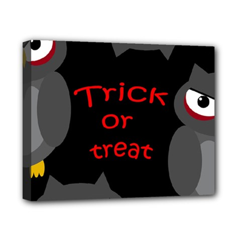 Trick Or Treat   Owls Canvas 10  X 8  by Valentinaart
