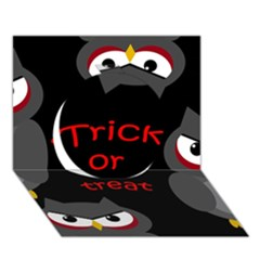 Trick Or Treat   Owls Circle 3d Greeting Card (7x5) by Valentinaart