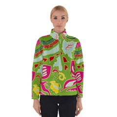 Green Organic Abstract Winter Jacket by DanaeStudio