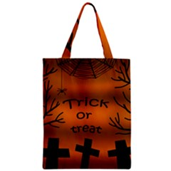 Trick Or Treat   Cemetery  Zipper Classic Tote Bag by Valentinaart