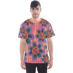 Colorful Floral Dream Men s Sport Mesh Tee