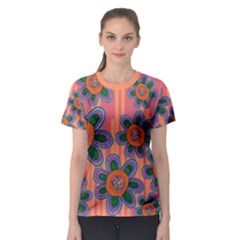 Colorful Floral Dream Women s Sport Mesh Tee