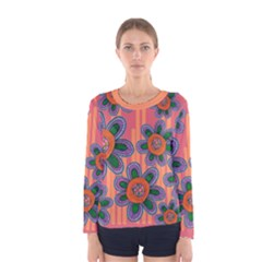 Colorful Floral Dream Women s Long Sleeve Tee