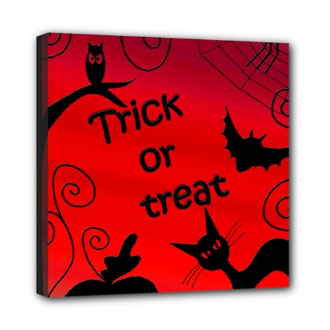 Trick Or Treat   Halloween Landscape Mini Canvas 8  X 8  by Valentinaart