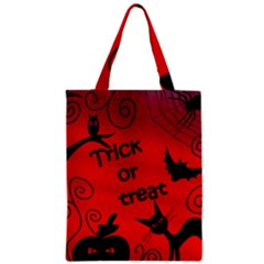 Trick Or Treat   Halloween Landscape Zipper Classic Tote Bag by Valentinaart