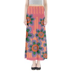Colorful Floral Dream Women s Maxi Skirt