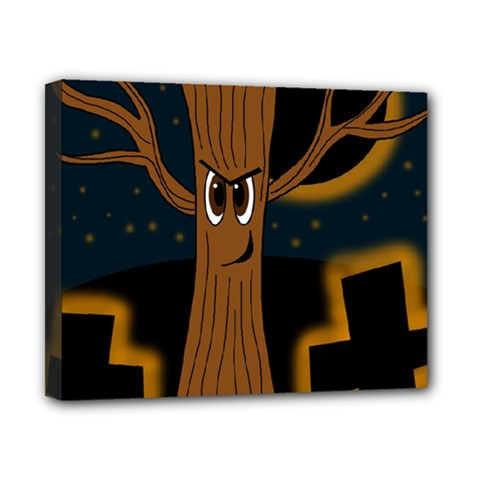 Halloween   Cemetery Evil Tree Canvas 10  X 8  by Valentinaart