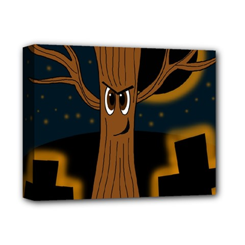 Halloween   Cemetery Evil Tree Deluxe Canvas 14  X 11  by Valentinaart