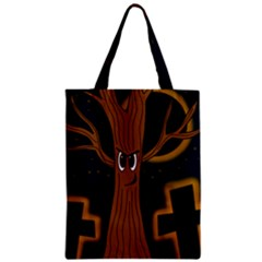 Halloween   Cemetery Evil Tree Classic Tote Bag