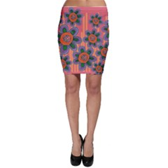 Colorful Floral Dream Bodycon Skirt