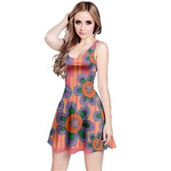 Colorful Floral Dream Reversible Sleeveless Dress