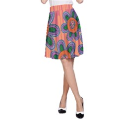 Colorful Floral Dream A-Line Skirt