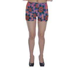 Colorful Floral Dream Skinny Shorts