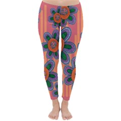Colorful Floral Dream Winter Leggings  by DanaeStudio