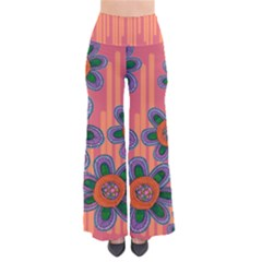 Colorful Floral Dream Women s Chic Palazzo Pants