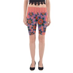Colorful Floral Dream Yoga Cropped Leggings