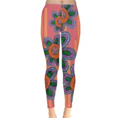 Colorful Floral Dream Leggings  by DanaeStudio