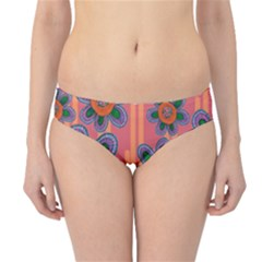Colorful Floral Dream Hipster Bikini Bottoms