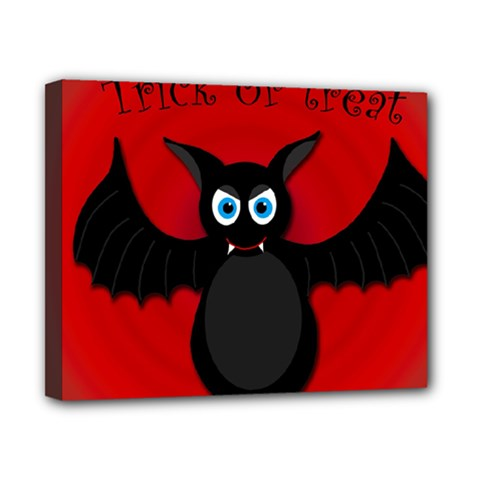 Halloween Bat Canvas 10  X 8  by Valentinaart