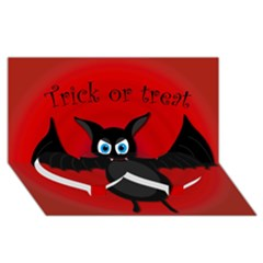 Halloween Bat Twin Heart Bottom 3d Greeting Card (8x4) by Valentinaart