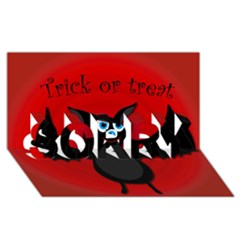 Halloween Bat Sorry 3d Greeting Card (8x4) by Valentinaart