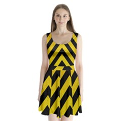 Construction Hazard Stripes Split Back Mini Dress  by AnjaniArt