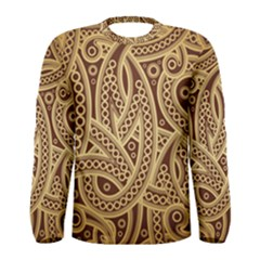 European Fine Pattern Men s Long Sleeve Tee