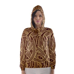 European Fine Pattern Hooded Wind Breaker (women)