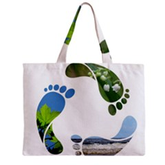 Footprint Recycle Sign Mini Tote Bag by AnjaniArt