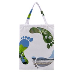 Footprint Recycle Sign Classic Tote Bag by AnjaniArt