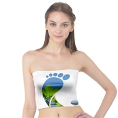 Footprint Recycle Sign Tube Top by AnjaniArt