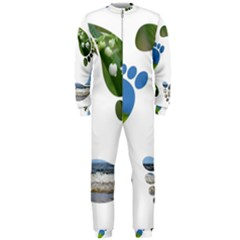 Footprint Recycle Sign Onepiece Jumpsuit (men)  by AnjaniArt
