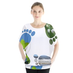 Footprint Recycle Sign Blouse by AnjaniArt