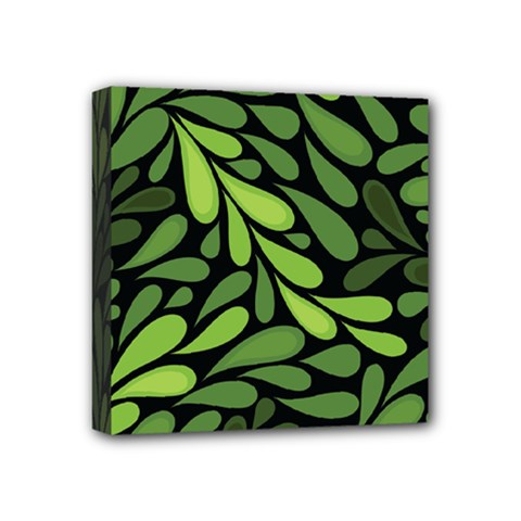 Free Green Nature Leaves Seamless Mini Canvas 4  X 4  by AnjaniArt