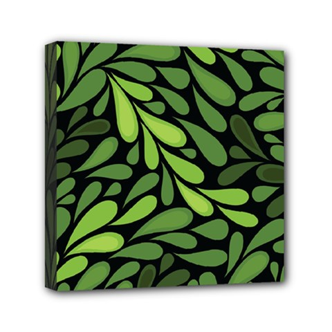 Free Green Nature Leaves Seamless Mini Canvas 6  X 6  by AnjaniArt