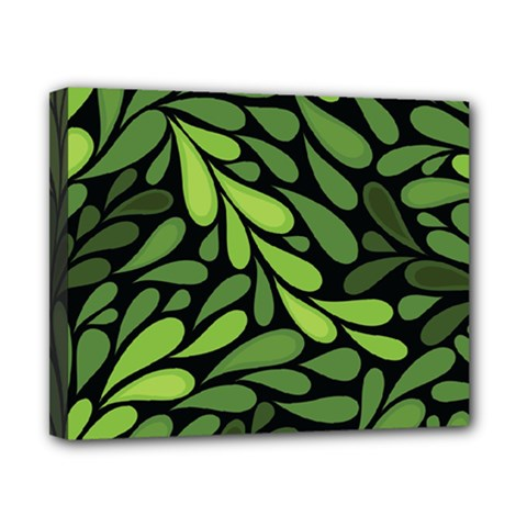 Free Green Nature Leaves Seamless Canvas 10  X 8  by AnjaniArt