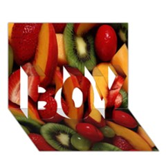 Fruit Salad Boy 3d Greeting Card (7x5) by AnjaniArt